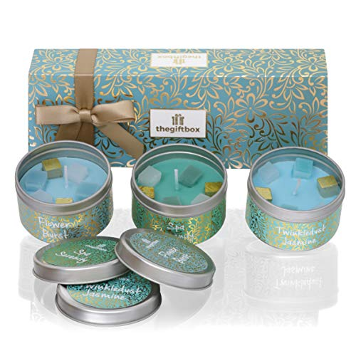 Scented Candle Gift Set, Relax Gift Set and Aromatherapy Gift. Scented Candles an for Women, Great Gifts for Her or Perfect Women's Gifts. (Twinklespark))