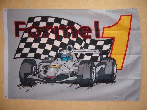 Fahnen,Flaggen, FORMEL 1 grau 135 x 90 cm