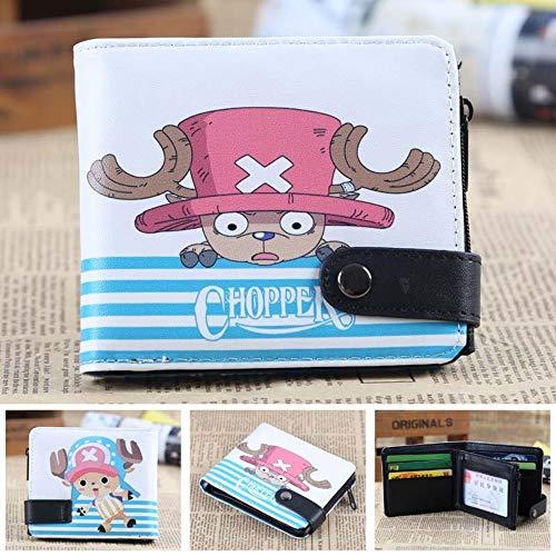 pZgfg Anime Purse Wallet Kurze Brieftasche Einrasten One Piece-Chopper