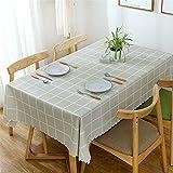 SUNFDD Tovaglia Moderna E Minimalista in PVC Poliestere Resistente All'Olio Cuscino Tavolino Hotel Home Office Tavolino Tavolo da Pranzo All'Aperto Tavolo da Picnic Tovaglia 140x180cm(WxH) H