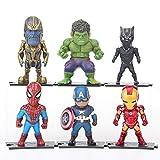 AMrjzr 6 Thanos Infinity War Thanos Panther Spider-Man Cake Decoración de coche-9CM...
