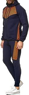 SPE969 Men's Jogger 2Pcs Set,Autumn Splicing Zipper Sweatshirt Pants Sets Sport Suit Tracksuit