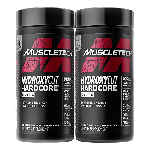 Weight Loss Pills for Women & Men | Hydroxycut Hardcore Elite | Weight Loss Supplement Pills | Weightloss + Energy Pills | Metabolism Booster for Weight Loss | 200 Pills (packaging may vary)