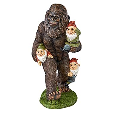 Garden Gnome Statue - Schlepping the Garden Gnomes Bigfoot Statue - Yeti Statue