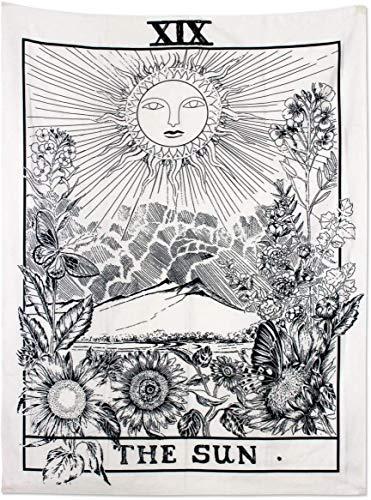 HEWADY Tarot tapicería Colgando tapisserie Sol como un paño Decorativo/edredón (150 x 100 cm, Sol)
