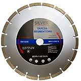 Disco de diamante de 230 mm, calidad profesional para hormigón, granito, piedra, adoquines, etc. Disco de corte de diamante adecuado para el uso profesional continuo.