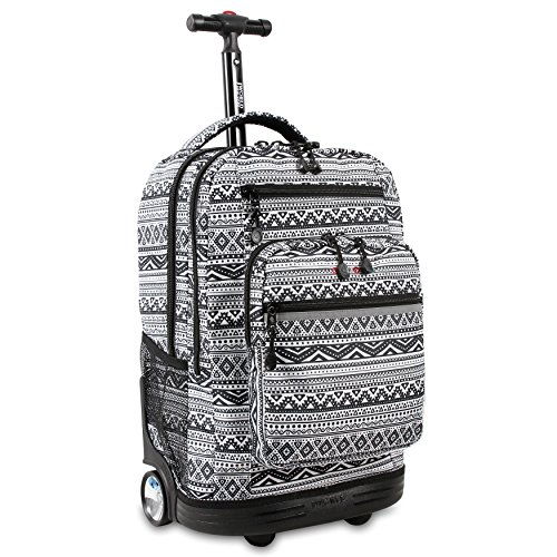 J World Sundance Rolling Backpack for School and Travel