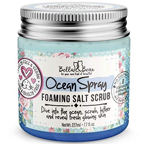 Bella & Bear Ocean Spray Scrub, No Sulphates, Parabens, No Harmful Chemicals, Cruelty-Free, Vegan-Friendly, Exfoliating, 6.7oz