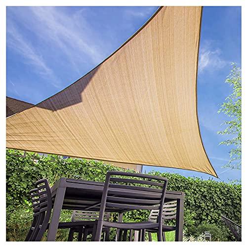 Vela De Sombra Triangular 5x5x5M Para Patio Toldos Exterior Terraza Con Cuerda Libre Protección Rayos UV Impermeable Para Patio Exteriores Jardín Balcón Amarillo Arena(Size:2*2*2m(6.5*6.5*6.5ft))