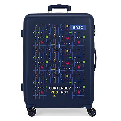 Enso Gamer Maleta Mediana Azul 48x68x26 cms Rígida ABS Cierre de combinación Lateral 70 3 kgs 4 Ruedas Dobles
