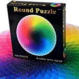 1000 Pieces Space Jigsaw Puzzles for Adults, Cardboard Puzzle, Kaleidoscope Circular Puzzle, Color Puzzle Without Color Or Printing Defects, Children's Puzzle Game