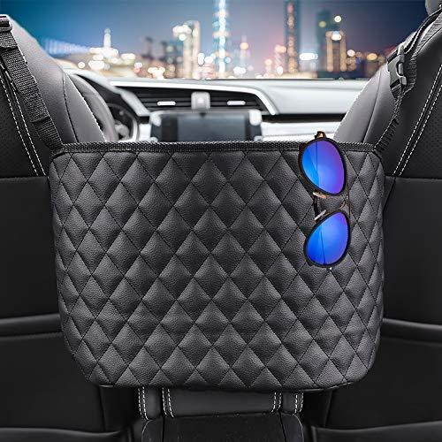 Car Storage Organizer, Purse Handbag Holder Between Seats, for Store keys, Wallets, Tissue, Automotive Consoles & Organizers, Leather Barrier of Back Seat Pet Kids