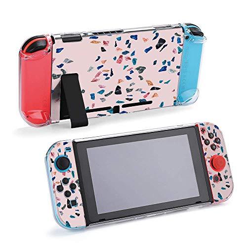 Granite, Terrazzo y Azulejo Compatible con Nintendo Switch Console y Joy-Con Funda Protectora, Duradera y Flexible Absorción de Golpes Anti-Arañazos Cubierta de Protección de Cáscaras Design11783