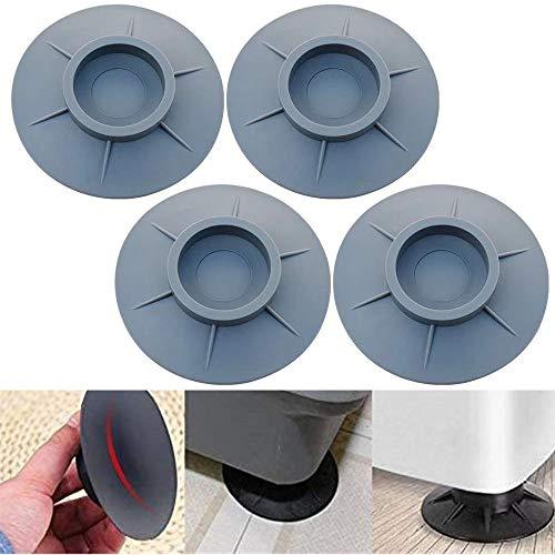 MXiiXM Almohadillas antivibración para lavadora, soporte para lavadora con cancelación de golpes y ruido, estabilizador de pies de lavadora, almohadillas antivibración para...