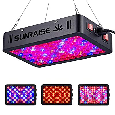 1000W LED Grow Light Full Spectrum for Indoor Plants Veg and Flower SUNRAISE LED Grow Lamp with Daisy Chain Triple-Chips LED (15W LED 96pcs)