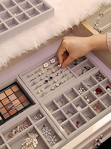 Especial / simple Easy Drawer Jewelry Mostrar almacenamiento Bandeja Joyería Organizador Caja de cosméticos Pendientes Pendientes Holder Rings Packaging Colgante Collar Soporte para las mujeres Caja d