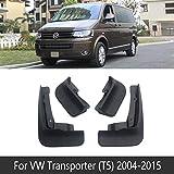 Accesorios de carrocería Faldones guardabarros for Volkswagen Transporter T5 VW Caravelle Multivan 2004~2015 rociadores de coches Flaps for Guardabarros delantero posterior Negro 4Pcs