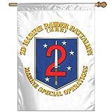 Eriesy Flagge Fahnen USMC 2D Marine Raider Battalion Flag Garden Flag Family Flag Party Flag 100% Polyester Fiber Vertical Garden Flag