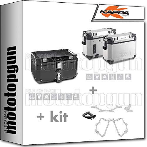KAPPA KVE58A KVE37APACK2 - Maleta con ruedas laterales, monociclo y maleta lateral, compatible con Yamaha FZS 1000 FAZER 2004 04