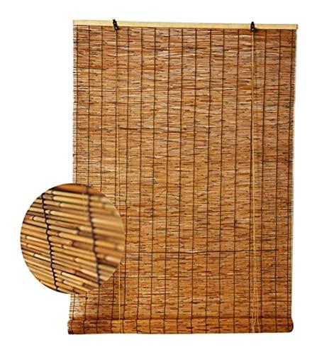 URUNI Bamboo Blinds Natural Reed Tenda A Rullo Tenda, Ombreggiatura Partizione Vintage Tenda di Paglia, Impermeabile E Antipolvere, per Esterno Coperto (Dimensione : 50x120cm/20x47in)