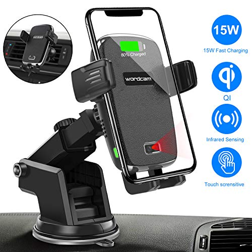 Wireless Charging Phone Holder,Electric Automatic Retractable Car Air Vents Holds Mount for Toyota Highlander 2018 2019,Car Phone Mount fit for iPhone 8,X,XS fit for Samsung,S9,S10 Smartphone