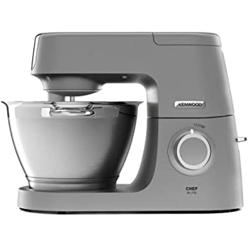 Kenwood Chef Elite Stand Baking-Powerful Food Mixer in Silver, with K-beater, Dough Hook, Whisk and 4.6 L Bowl, 1200W, KVC5100, 18/10 Steel, 1200 W, 4.6 liters