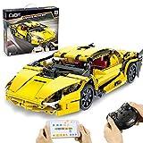 Seasy CADA C51055 - Coche deportivo teledirigido para Lamborghini, 2.4 G/aplicación, coche de carreras con motor e iluminación, juego de construcción, 456 piezas, compatible con la técnica Lego