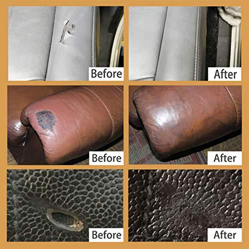 Appoo LederVinylReparaturset Leder Reparatur Set Leder Vinyl Repair Kit Praktischer Klebstoff Für Autositze Good