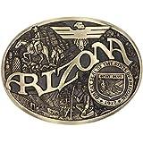 Montana Silversmiths Men's Two-Tone State Heritage Attitude Belt Buckle (Arizona)