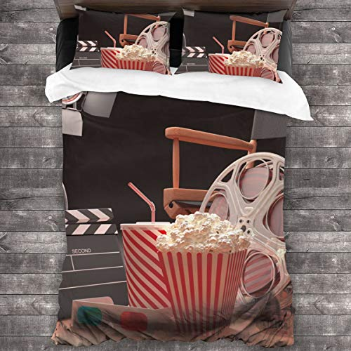 MAYUES Duvet cover bedding Set,Classic Rose Floral And Glasses,3 Piece Set bedding with 2 pillowcases,Single(135 * 210cm)