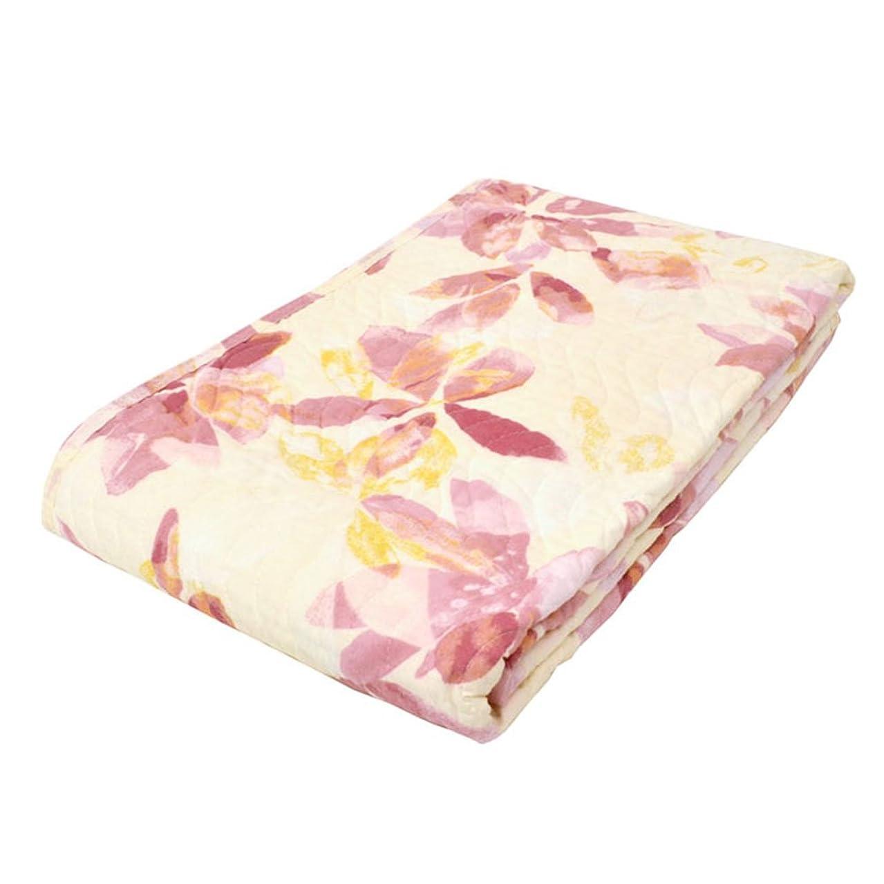 下品大胆無意味東京西川 水洗いキルト 敷きパッド セミダブル 綿100% ピンク 春 夏 洗える 先染め 花柄 約120×205cm