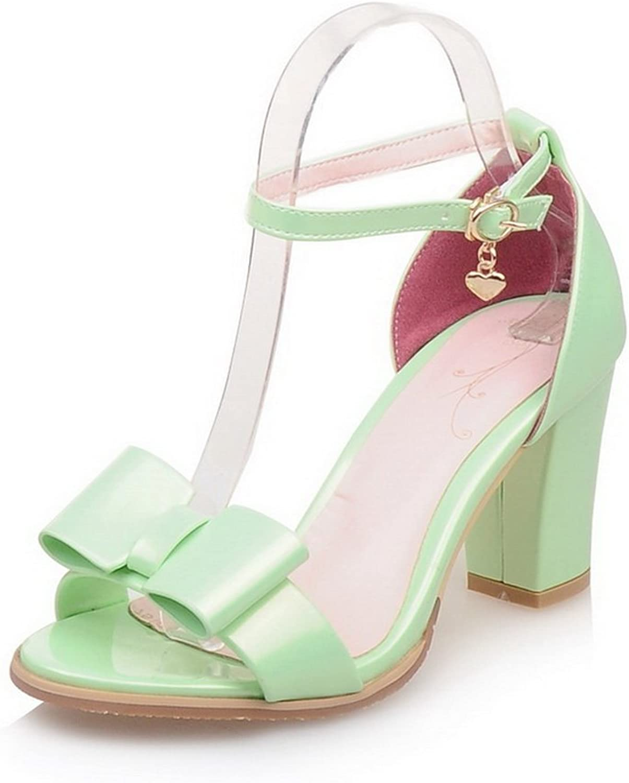 BalaMasa Womens Sandals High-Heel Huarache Urethane Sandals ASL04790