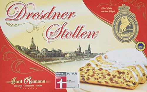 Original Dresdner Mandelstollen / Christstollen mit Mandeln von Emil Reimann 0,5kg (500g) im Karton