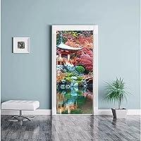3Dドアステッカーポスターカラーレンガ疲れた装飾家のドア美しいクリスマスステッカー画像子供部屋幼稚園寝室ホテル装飾ドア壁ステッカー