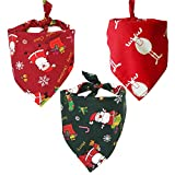 ProfessionalBags AUPET 3 Pieces Christmas Dog Bandanas Thanksgiving Pet Bandana Halloween Pet Triangle Scarf Neckerchief Washable Dog Bibs for Dog and Cat