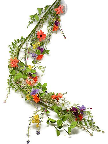 Artificial Spring Wildflower & Berry Garland x 1.2m Wedding Home Flower Decor