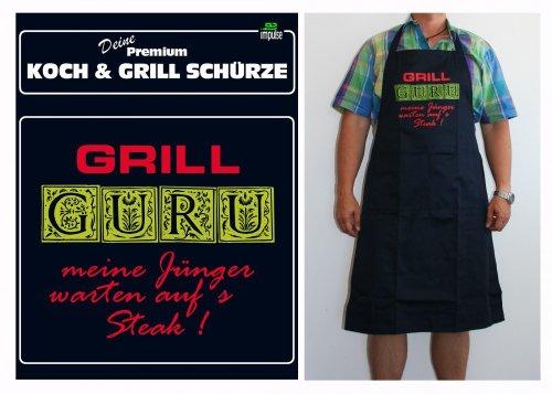 TE Trend grill-/kookschort spreuk grill Guru, zwart