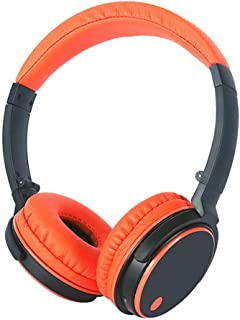HiFi Sound Quality Stereo Headset Wireless Bluetooth Headset Headset Subwoofer Noise Reduction Headset Stereo Game Music Universal (Color : Orange)