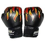 Isuper 1 Par Guantes de Boxeo niños Llama Imprimir Guantes de Kickboxing Bagwork Gel Formación Combate de...