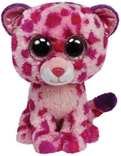 Ty Beanie Boos Glamour Leopard Plush, Rosa, Medium by Ty Beanie Boos