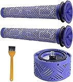 Topteam Filtro de posmotor V6 y 2 filtros pre HEPA V6 V7, V8, kit de filtros de repuesto para aspiradora Dyson V6 Series Animal and Wireless Stick Aspiradora, piezas de repuesto # DY-966912-03