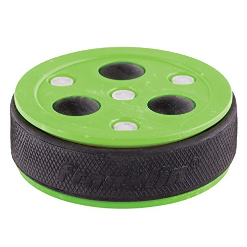 Franklin Sports NHL Roll-a-Puck X3 Streethockeypuck, grün, Standard