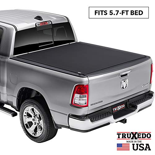 """TruXedo Pro X15 Soft Roll Up Truck Bed Tonneau Cover   1485901   fits 2019 - 2020 New Body Style Ram 1500 - Does Not Fit With Multi-Function (Split) Tailgate 5'7"""" bed"""