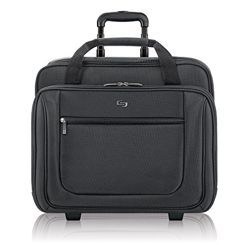 Solo Bryant Rolling Laptop Bag with Wheels,Fits Up to 17.3-Inch Laptop,Travel Friendly Wheeled Briefcase for Women and Men with Telescoping Handle-Black