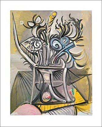 Germanposters Pablo Picasso Vase de Fleurs sur UNE Table 1969 Poster Kunstdruck - 24 x 30 cm