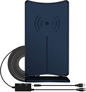 Digital HD TV Antenna, JoyGeek Amplified HDTV Antenna Stand Indoor 80-120 Miles Long Range Signal Wave Support 4K 1080P HD Freeview Powerful Home Amplifier Signal Booster 16ft Coax Cable USB Power