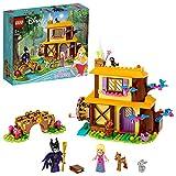 LEGO 43188 DisneyPrincess CabañaenelBosquedeAurora, Juguete de Construcción