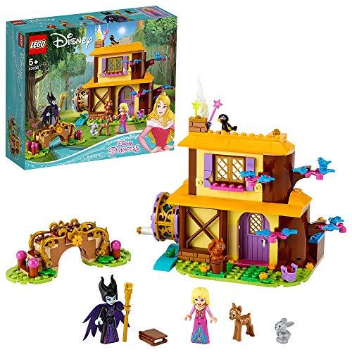 LEGO 43188 Disney Princess Auroras Hütte im Wald, Spielset aus dem Film Dornröschen mit Malefiz Minifigur und Tierfiguren