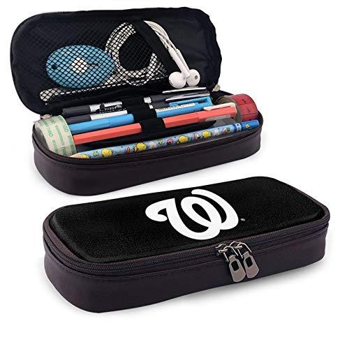 Wa-shington Na-tionals - Estuche para lápices con capacidad para lápices, soporte de múltiples ranuras para escuela secundaria, oficina, colegio, adolescente, niña, adulto, almacenamiento simple