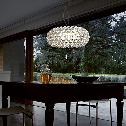 Caboche Foscarini lampada a sospensione trasparente - LED, Grande, 2 metri